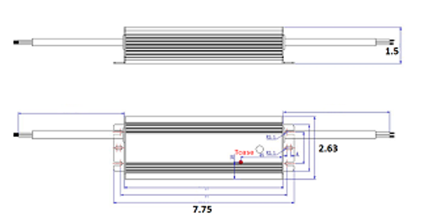 ILLA-120200 120w LED Power Supply 120v-277v Constant Current LED Driver 120 Watt, 48-59vdc, 2 amps