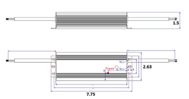 ILLA-120225 120w LED Power Supply 120v-277v Constant Current LED Driver 120 Watt, 42-54vdc, 2.25 amps