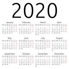 2020 Calendar  icon