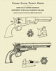 1850 Colt Revolver Patent Print Dye Sublimation & Heat Infused Pressed Wall Art 8.5 Inches by 11 Inches