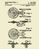 Star Federation Trek Enterprise Patent Print Dye Sublimation & Heat Infused Pressed Wall Art 8.5 Inches by 11 Inches