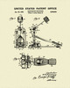 Bass Drum Pedal Patent Print Dye Sublimation & Heat Infused Pressed Wall Art 8.5 Inches by 11 Inches
