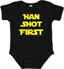 Mari Kyrios Han Shot First Star Force Baby Bodysuit Onesie Black