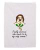 Divorce Gift Hand Towel for Women Wing Woman White 11x18 Inches