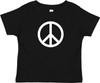 Peace Symbol Hippie 60s Baby Toddler Cotton T-Shirt Black
