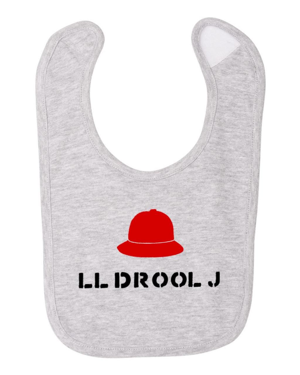 LL Drool J Rap Hip Hop Cool Funny Baby Bib Cotton Child Apron & Smock