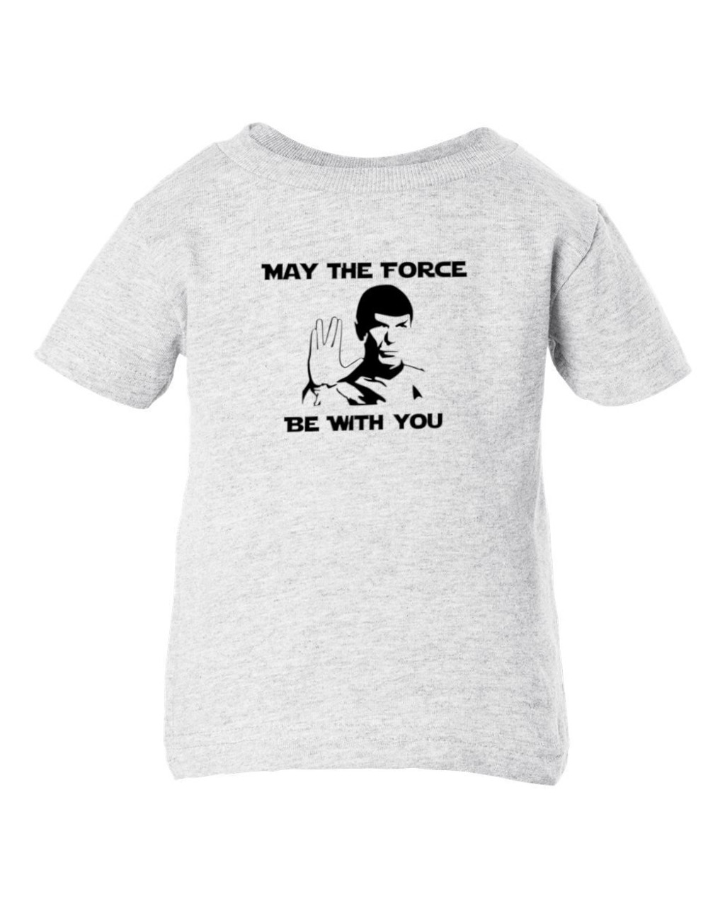 Star Force Trek Wars Spock Force With You Parody Sci-Fi Funny Toddler Child Ash T-Shirt