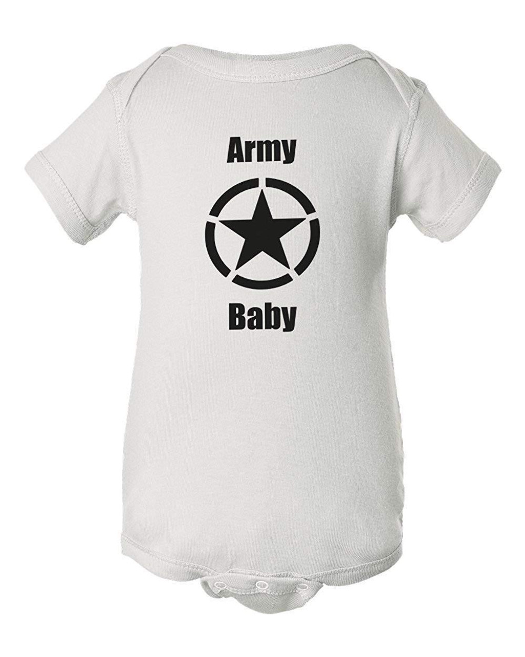 Army Baby White Bodysuit Romper Infant Jumper