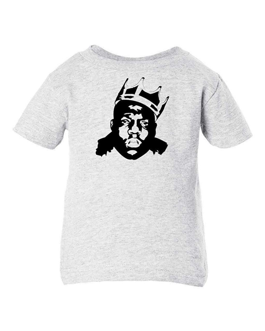 Biggie Smalls Notorious Big Rap Music Baby Infant & Toddler T-Shirt Ash Concert