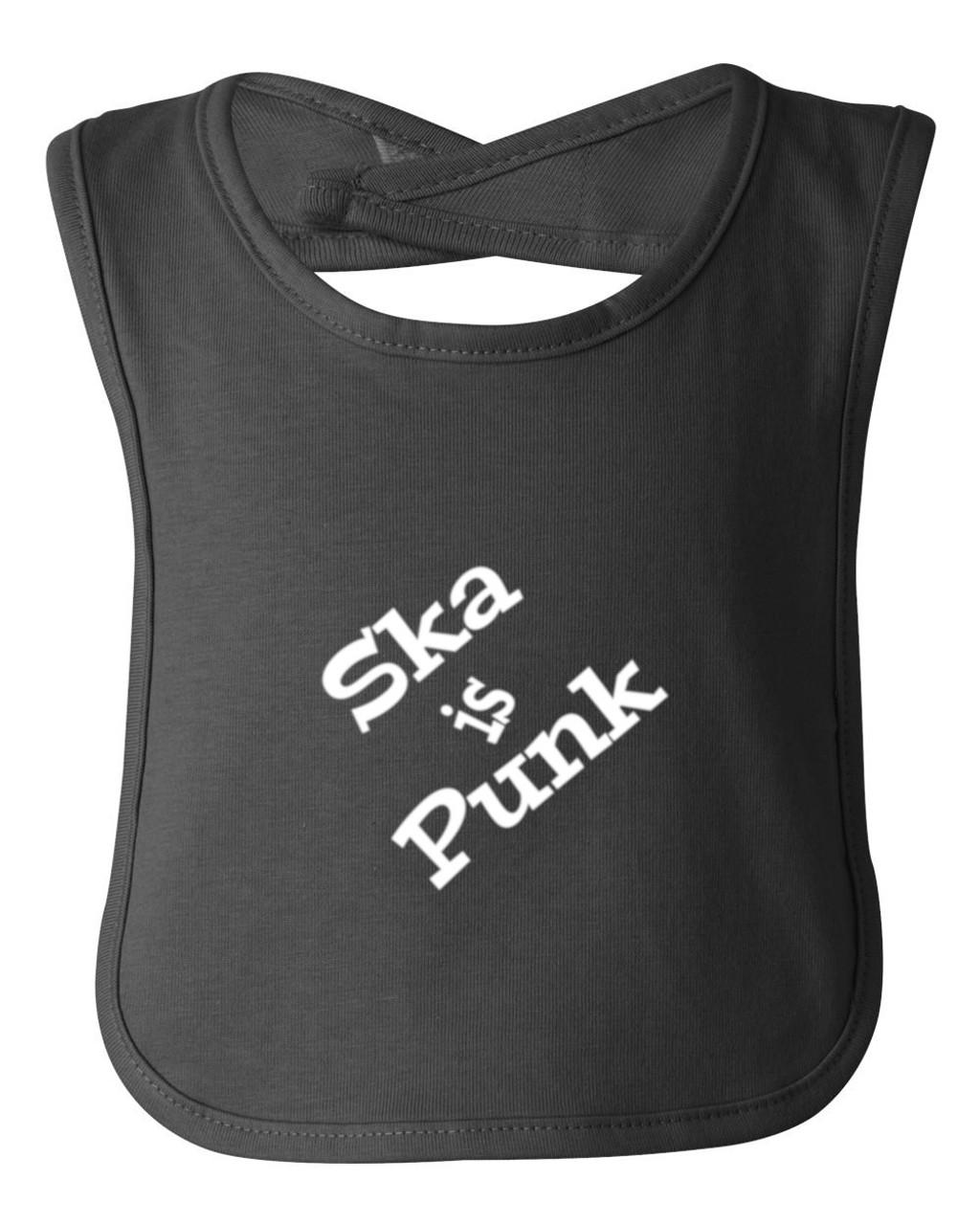 Ska is Punk Music Op Ivy Baby Bib Black Cotton Child Apron & Smock