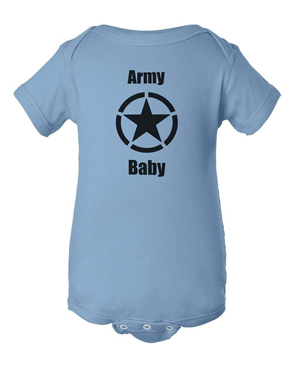 Army Baby Light Blue Clothes Bodysuit Infant Child Jumper