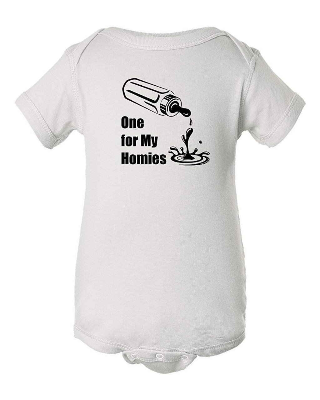 One For My Homies Parody Funny Baby Clothes Infant Bodysuit
