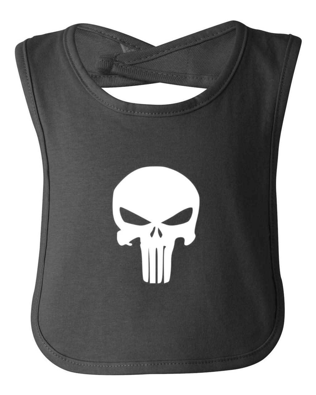 Skull Punisher Logo Baby Bib Cotton Apron Child Smock
