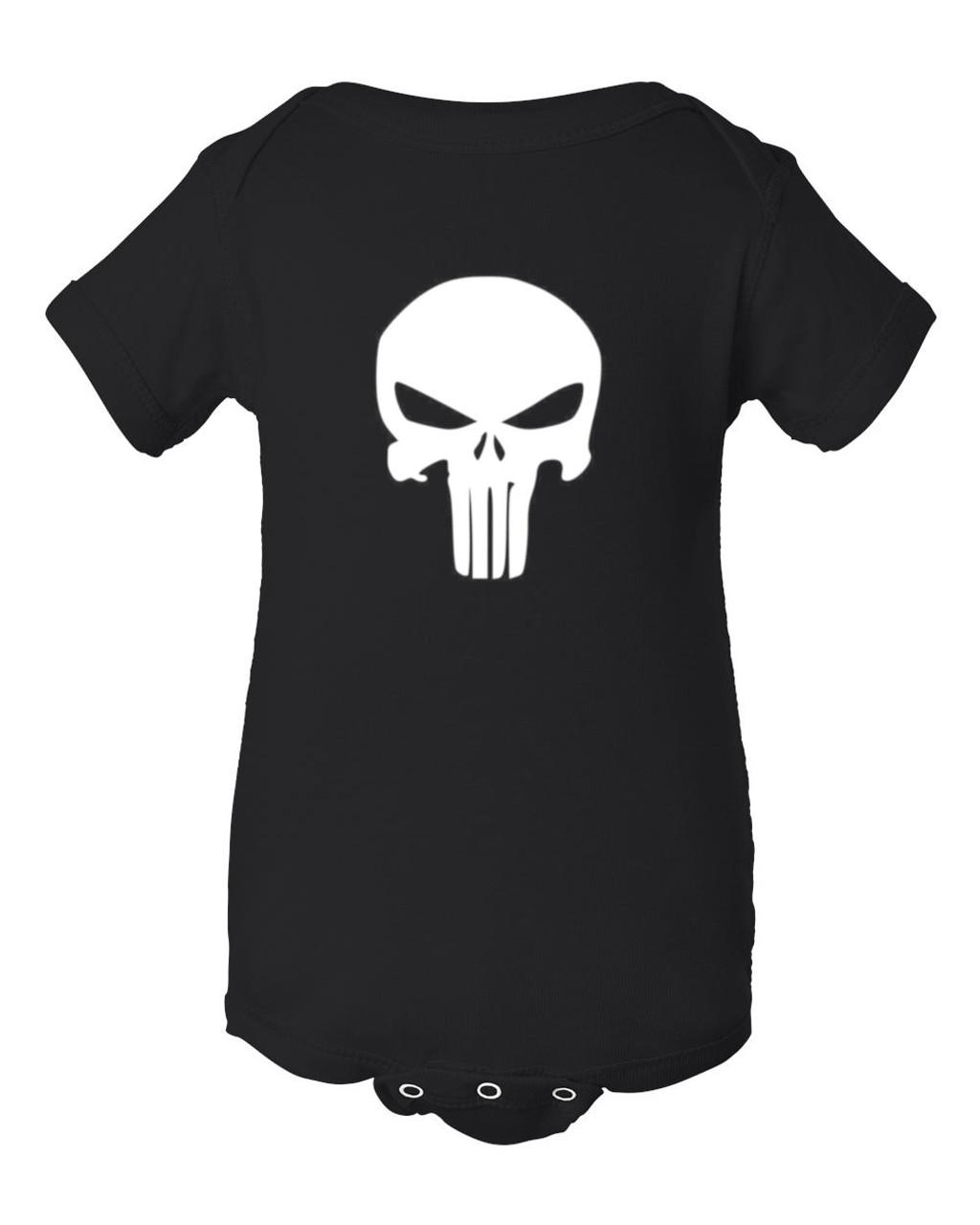 Skull Punisher Logo Baby Infant Bodysuit Jumper & Romper