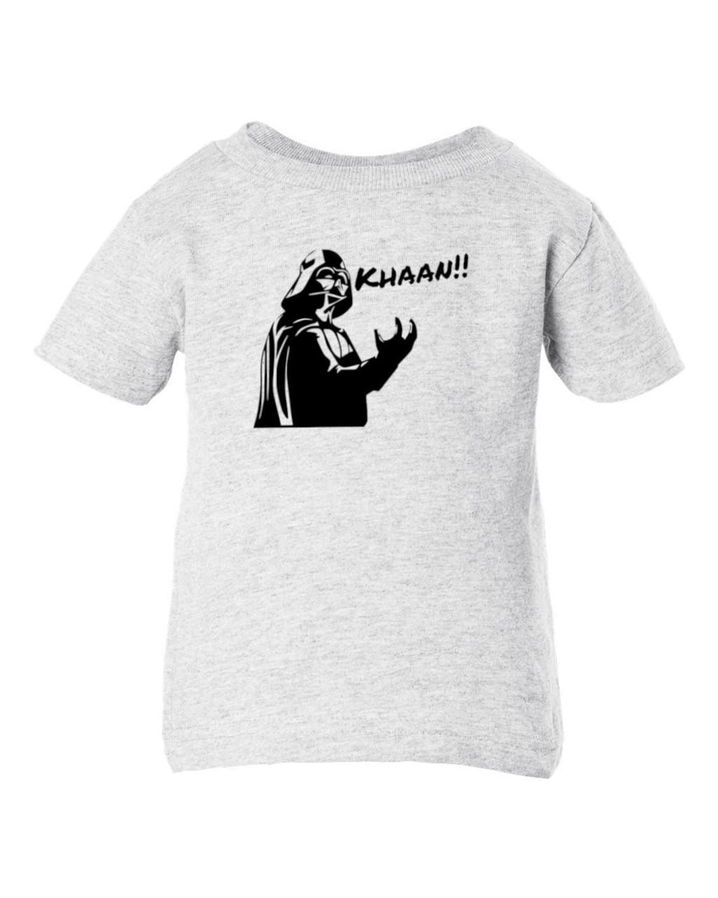 Star Force Trek Wars Vader Kirk Parody Sci-Fi Funny Baby Toddler Child Ash T-Shirt