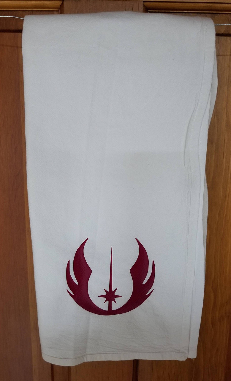 Jedi Symbol Hand Towel Kitchen or Bathroom Towel Star Wars Inspired