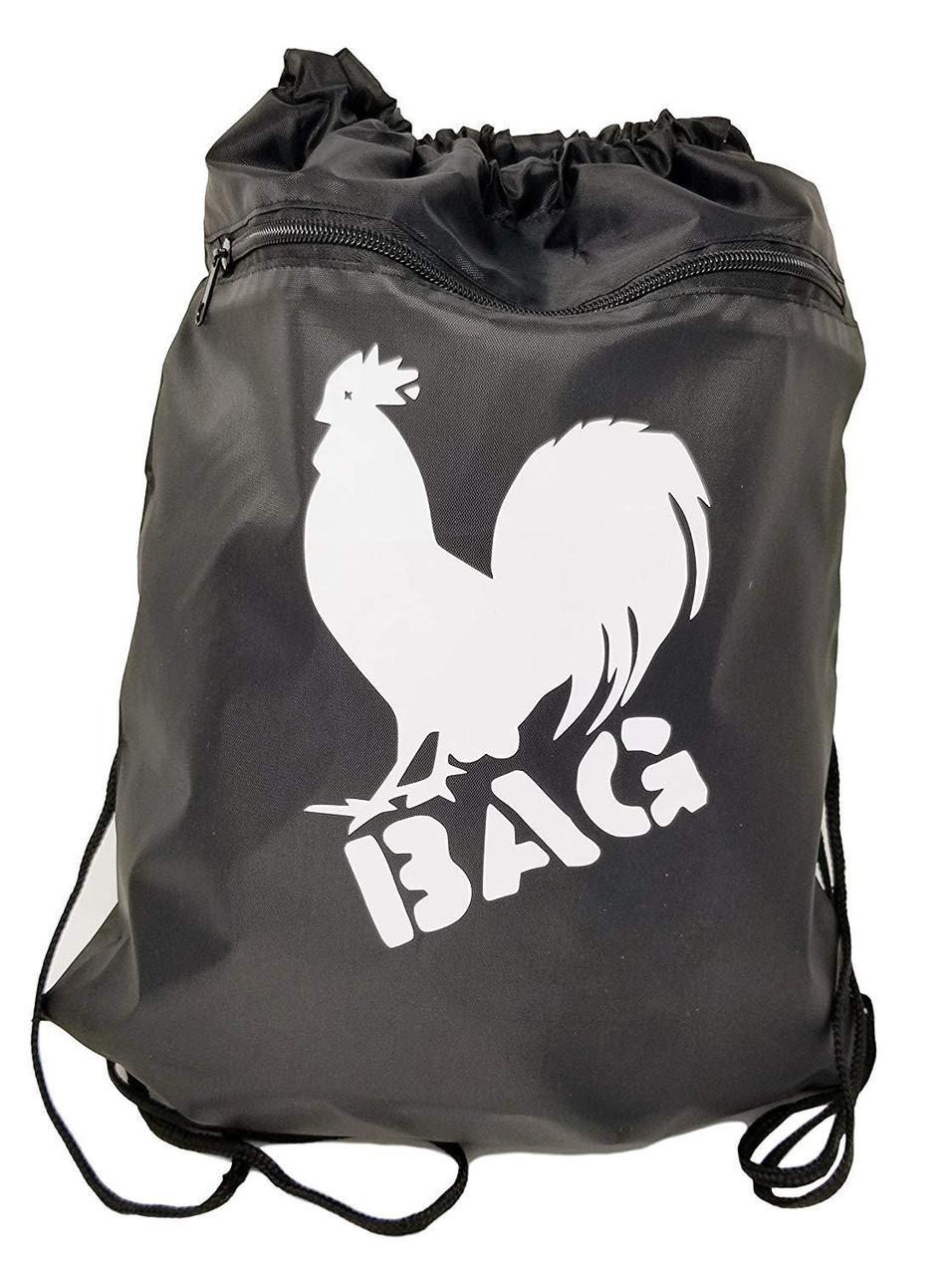 Cock Bag Backpack Duffel Sack Drawstring Closure & Tote