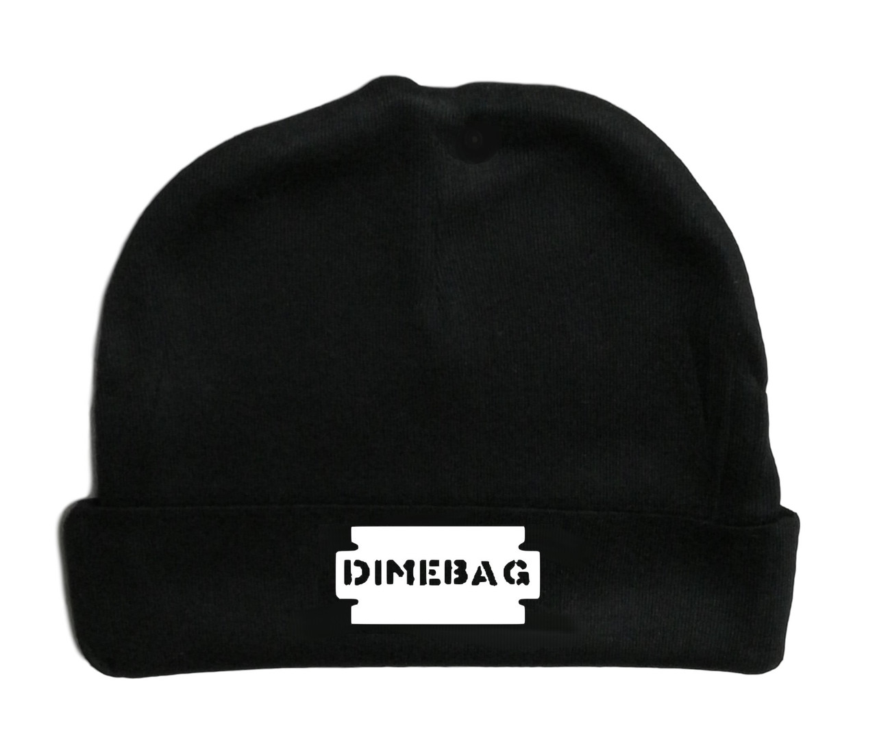 Dimebag Thrashing Darrell Metal Rock & Roll Infant Baby Beanie Cap White Logo
