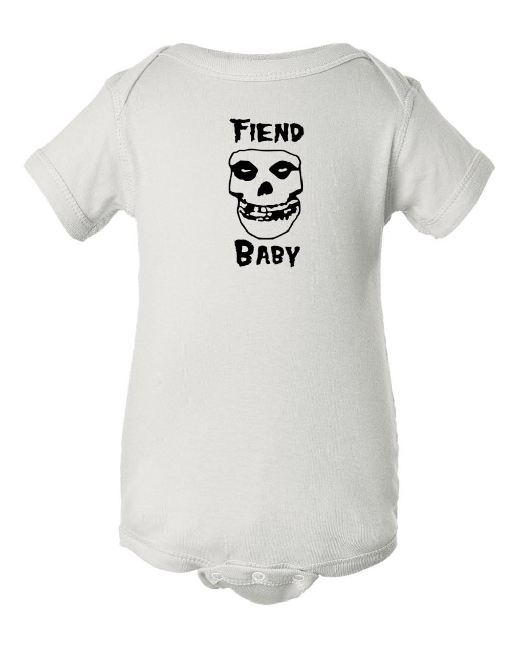 Misfits Onesie Fiend Club Baby Infant Punk White Bodysuit Danzig Years