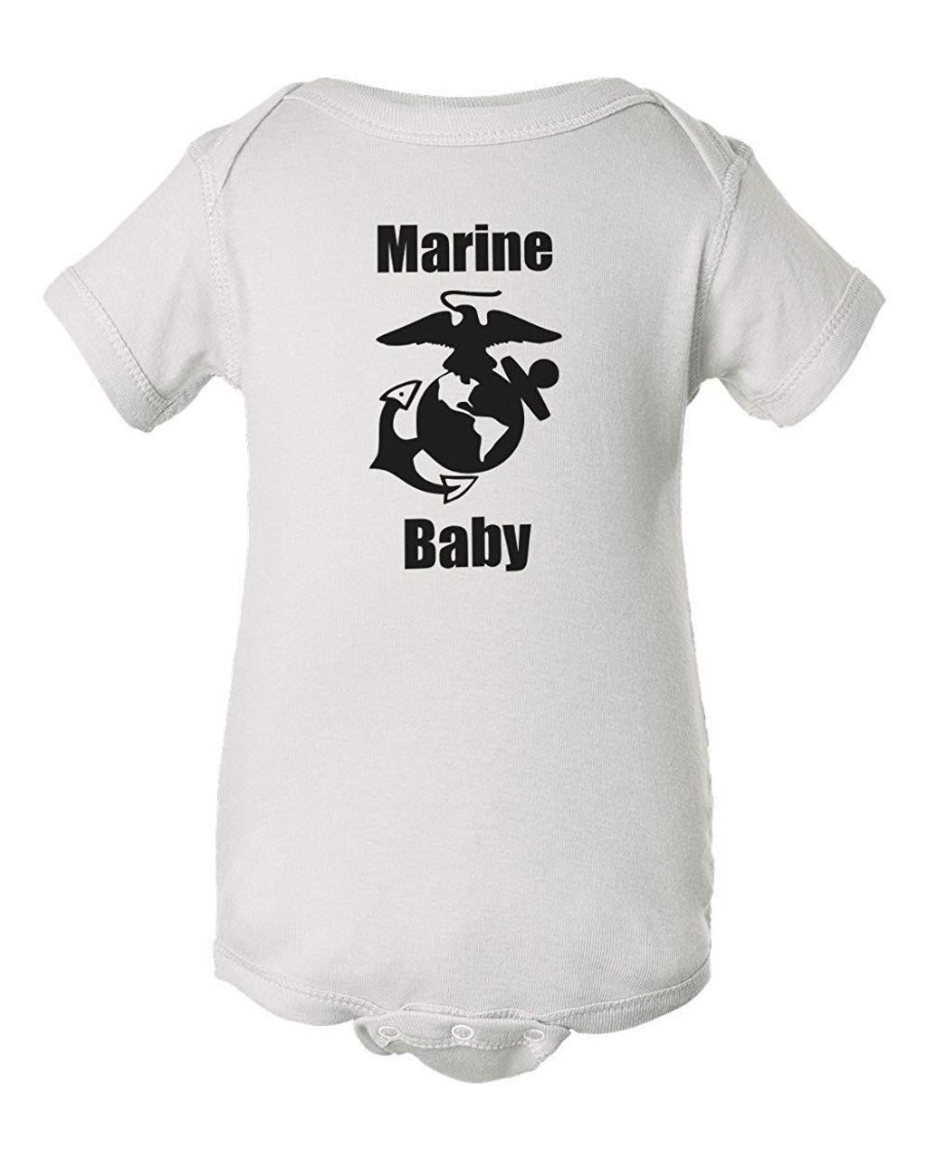 Marines Baby White Clothes Bodysuit Romper Child Jumper