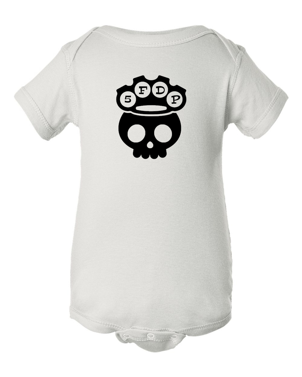 5 Finger Baby Death Punch Parody Infant Bodysuit White