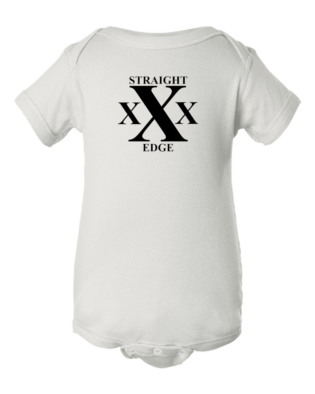 Hardcore Punk Rock White Straight Edge Baby Pit Bodysuit