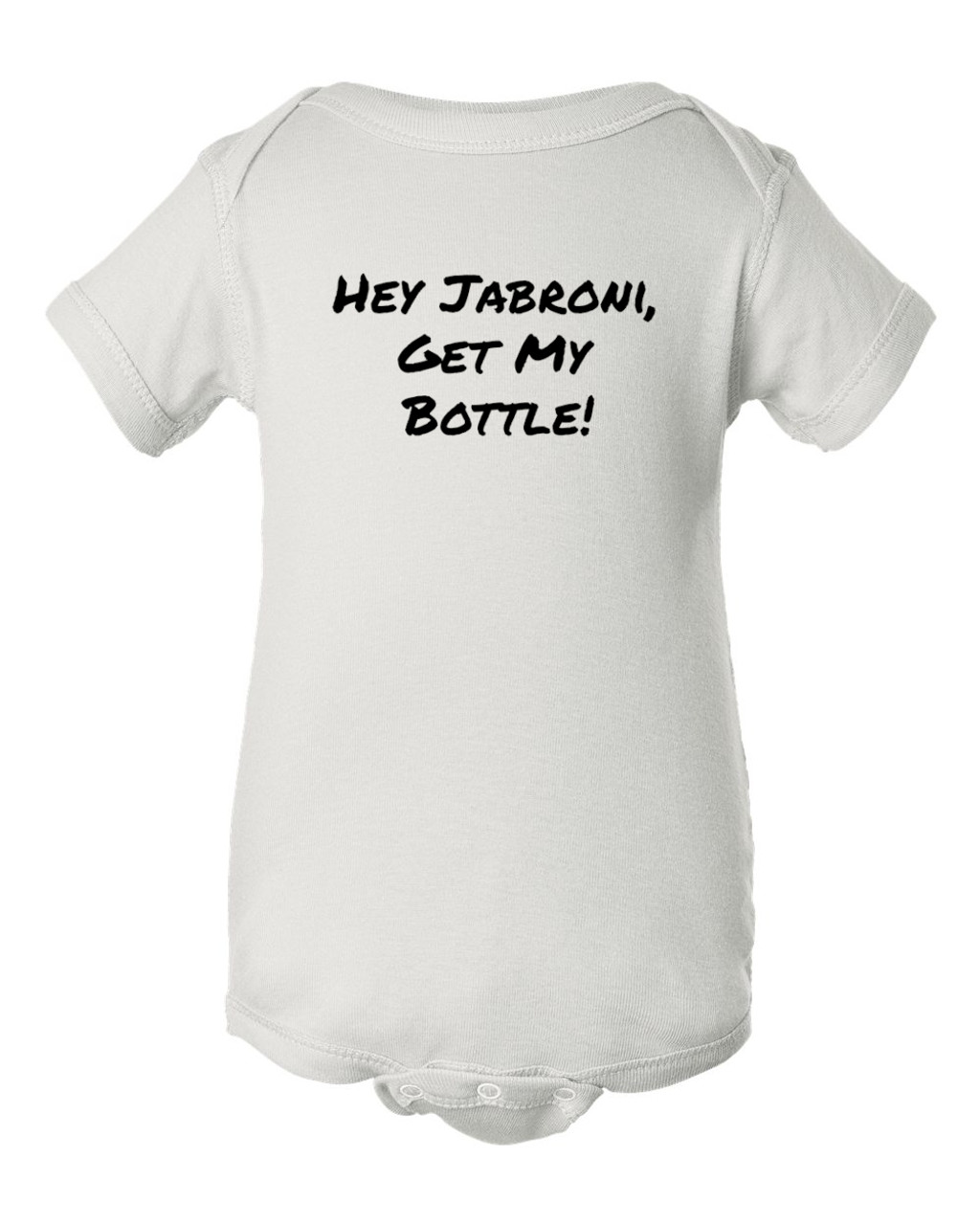 Hey Jabroni Rock Wrestling Slang Baby Bodysuit Onesie White