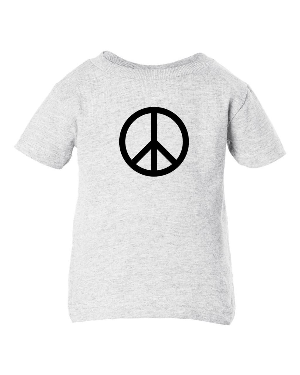 Peace Symbol Hippie 60s Baby & Toddler T-Shirt Ash Grey