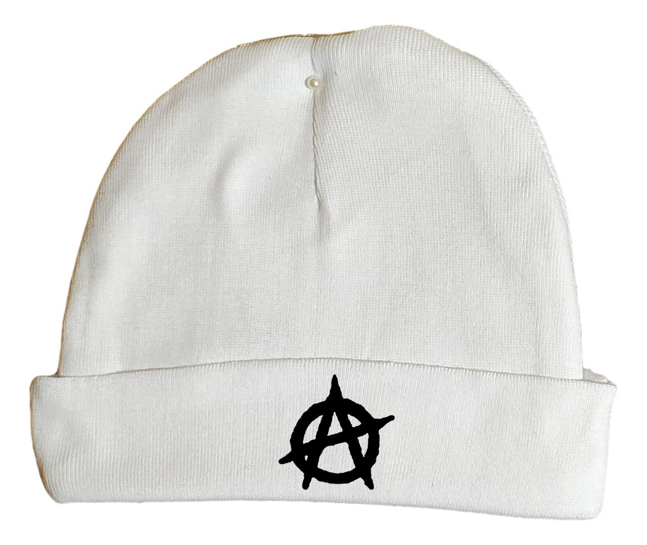 Anarchy Symbol Punk White Hat Infant Baby Beanie Cap
