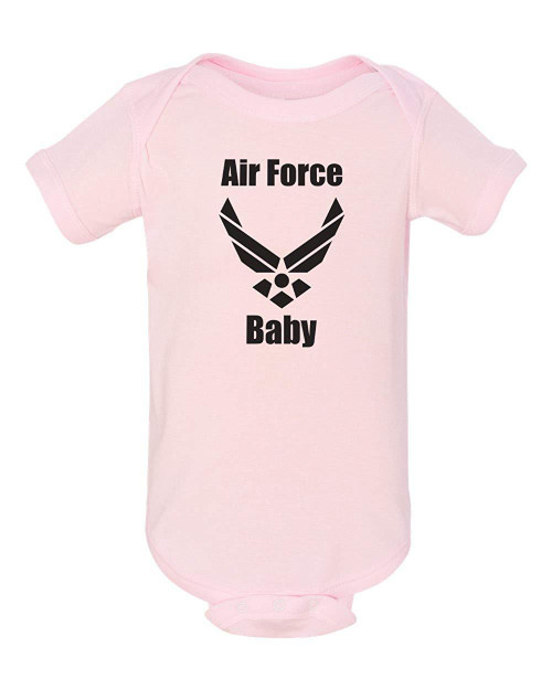 Air Force Baby Pink Bodysuit Infant Child Jumper
