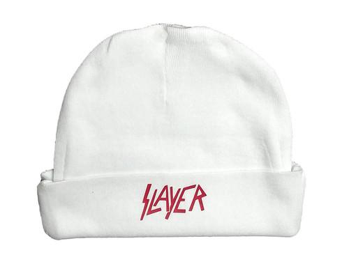 Slayer Speed Thrash Metal Rock & Roll White Hat Infant Baby Beanie Cap