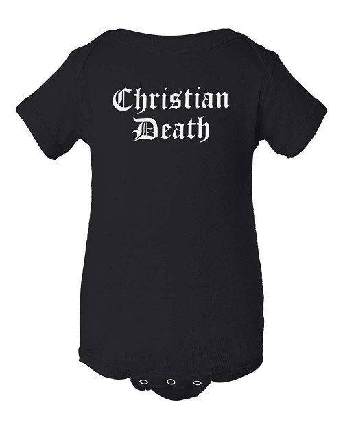 Christian Death Goth Gothic Metal Infant Deathrock Bodysuit Baby