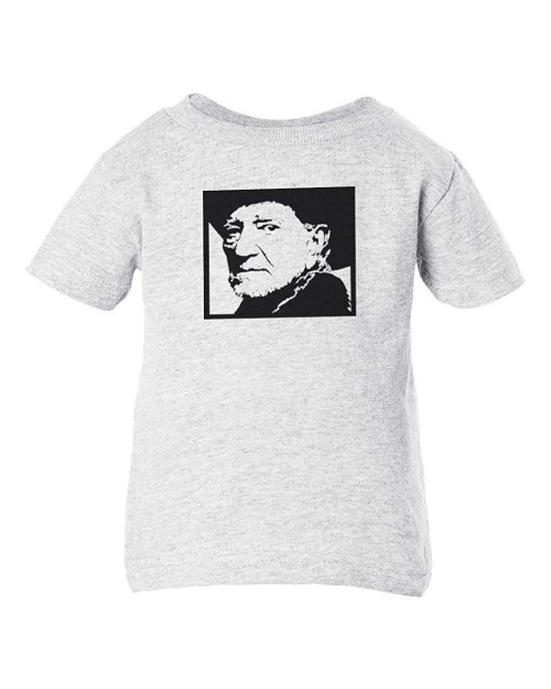 Willie Ponytail Nelson Baby Clothes Toddler T-Shirt Folk Rock
