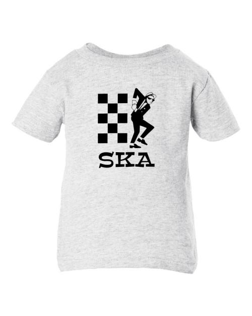 SKA Punk Rudeboy 2 Tone Ash Baby Toddler Cotton Child Ash T-Shirt