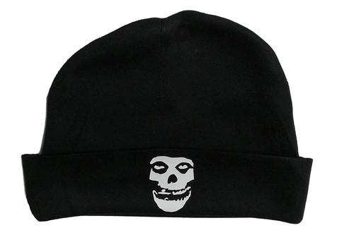 Misfits Fiend Club Baby Punk Rock & Roll Black Beanie Stocking Cap Danzig Skull