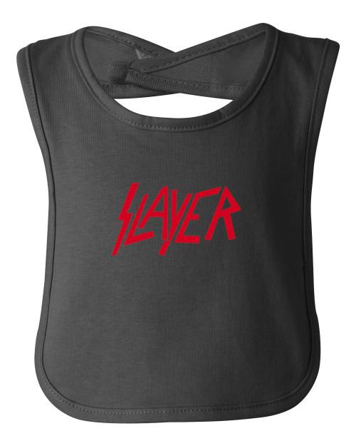 Slayer Thrash Speed Metal Rock & Roll Cotton Baby Bib Black