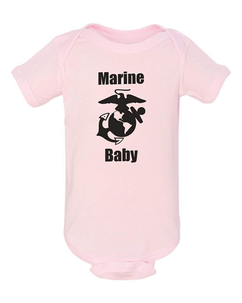 Marines Baby Pink Clothes Bodysuit Infant Child Jumper