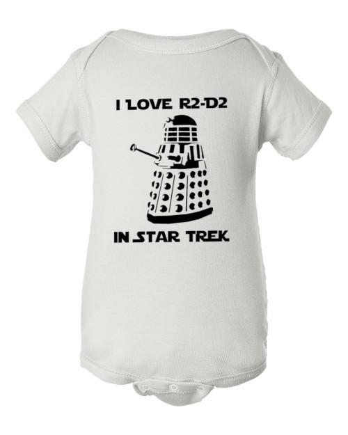 Star Force Trek Wars Dr ? Parody Dalek Sci-Fi Funny Infant Baby Bodysuit
