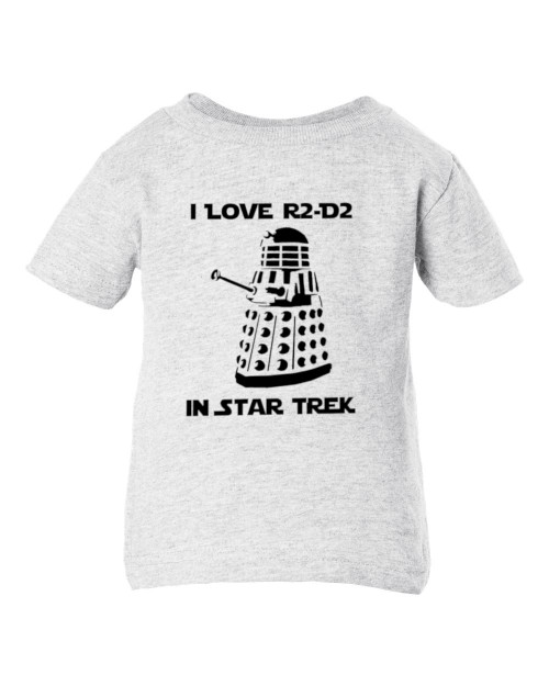 Star Force Trek Who? Dr Parody Dalek Sci-Fi Funny Toddler Child Ash T-Shirt