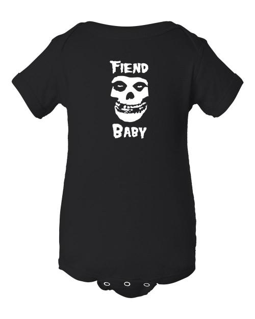 Misfits Fiend Club Baby Punk Rock Infant Black Bodysuit Danzig Years