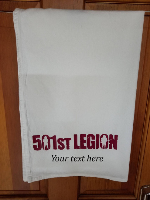 Customized 501st Legion Hand Towel Kitchen or Bathroom Towel Star Wars Inspired
