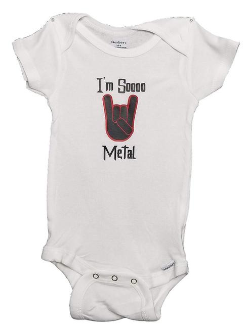 I'm So Metal Baby Thrash Red Rock & Roll Bodysuit Infant Speed Metal