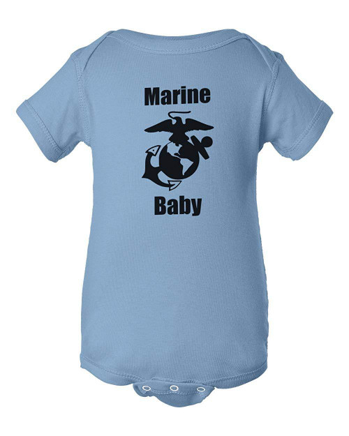 Marines Baby Light Blue Infant Bodysuit Child Jumper