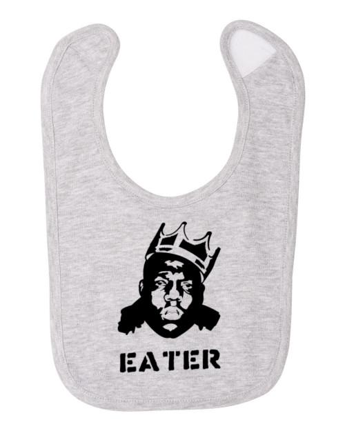 Biggie Eater Smalls Notorious Rapper B.I.G. Hip Hop Funny Baby Bib