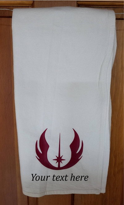 Customized Jedi Symbol Hand Towel | Tea Flour Sack Kitchen/Bathroom Towel Star Wars Inspired