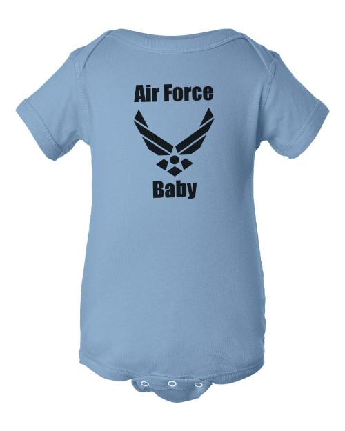 Air Force Baby Light Blue Bodysuit Infant Child Jumper