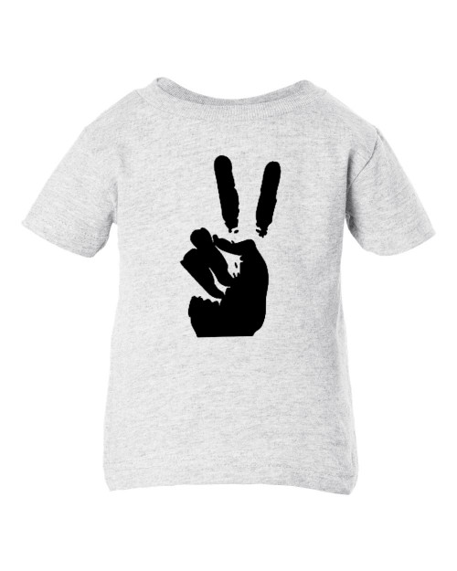 Peace Sign Symbol Hippie 60's Baby Toddler Ash T-Shirt Dead Head