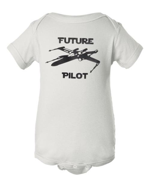 Star Force Wars X Wing Fighter Baby Bodysuit Infant Romper