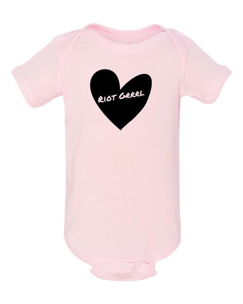 Riot Grrrl Baby Feminist Infant Bodysuit Pink
