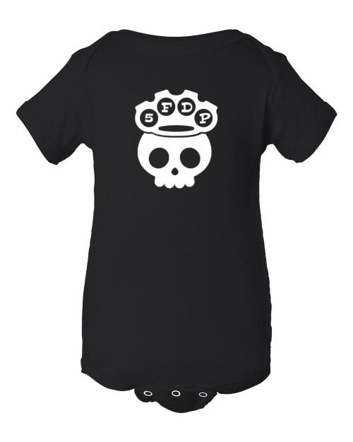 5 Finger Baby Death Punch Parody Infant Bodysuit Black
